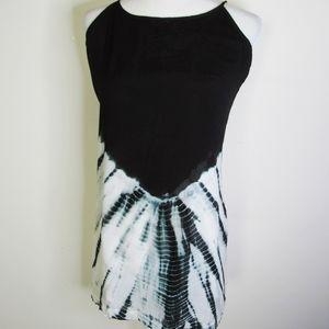 BUFFALO Black/White Tie Dye Spaghetti Mini Dress
